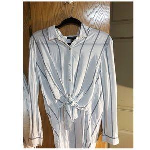 Stripe white shirt